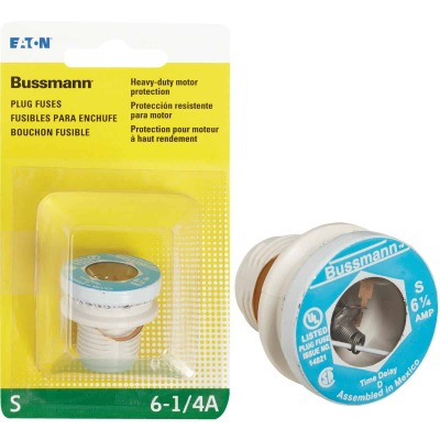 Bussmann 6-1/4A BP/S Time-Delay Plug Fuse