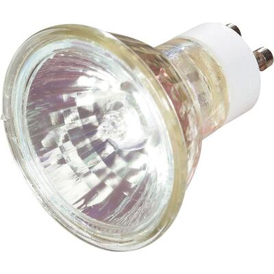 Satco 35W Equivalent Clear GU10 Base MR16 Halogen Floodlight Light Bulb