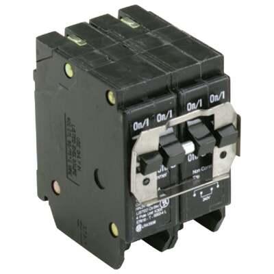 Eaton BQ 20A/20A Quad-Pole Standard Trip Quadplex Circuit Breaker