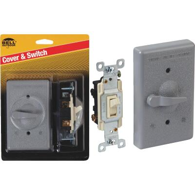 Bell 3-Way Vertical Mount Gray Weatherproof Outdoor Switch Cover