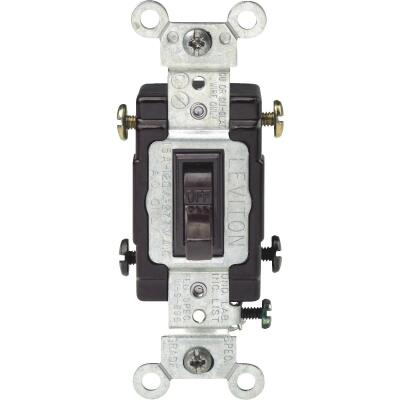 Leviton Toggle Brown 20A Grounded Quiet Double Pole Switch