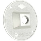 Hubbell 4 In. 1-Outlet 1/2 In. NPT White Zinc Weatherproof Electrical Cover Image 1