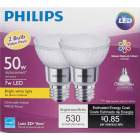 Philips 50W Equivalent Bright White PAR20 Medium Dimmable LED Floodight Light Bulb (2-Pack) Image 2