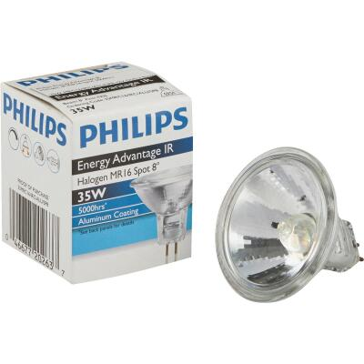 Philips Energy Advantage IR 45W Equivalent Clear GU5.3 Base MR16 Halogen Spotlight Light Bulb