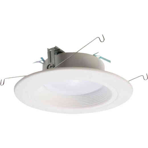 Halo 5 In./6 In. Retrofit Baffle Selectable Color Temperature LED Recessed Light Kit, 1006 Lm.
