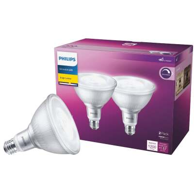 Philips 120W Equivalent Bright White PAR38 Medium Indoor/Outdoor LED Floodlight Light Bulb (2-Pack)