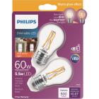 Philips Warm Glow 60W Equivalent A15 Medium Dimmable LED Light Bulb (2-Pack) Image 1