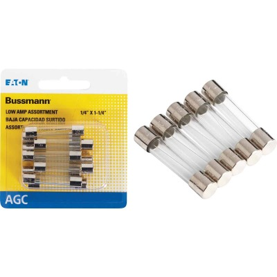 Bussmann AGC Glass Tube Fuse Assortment (10-Pack)
