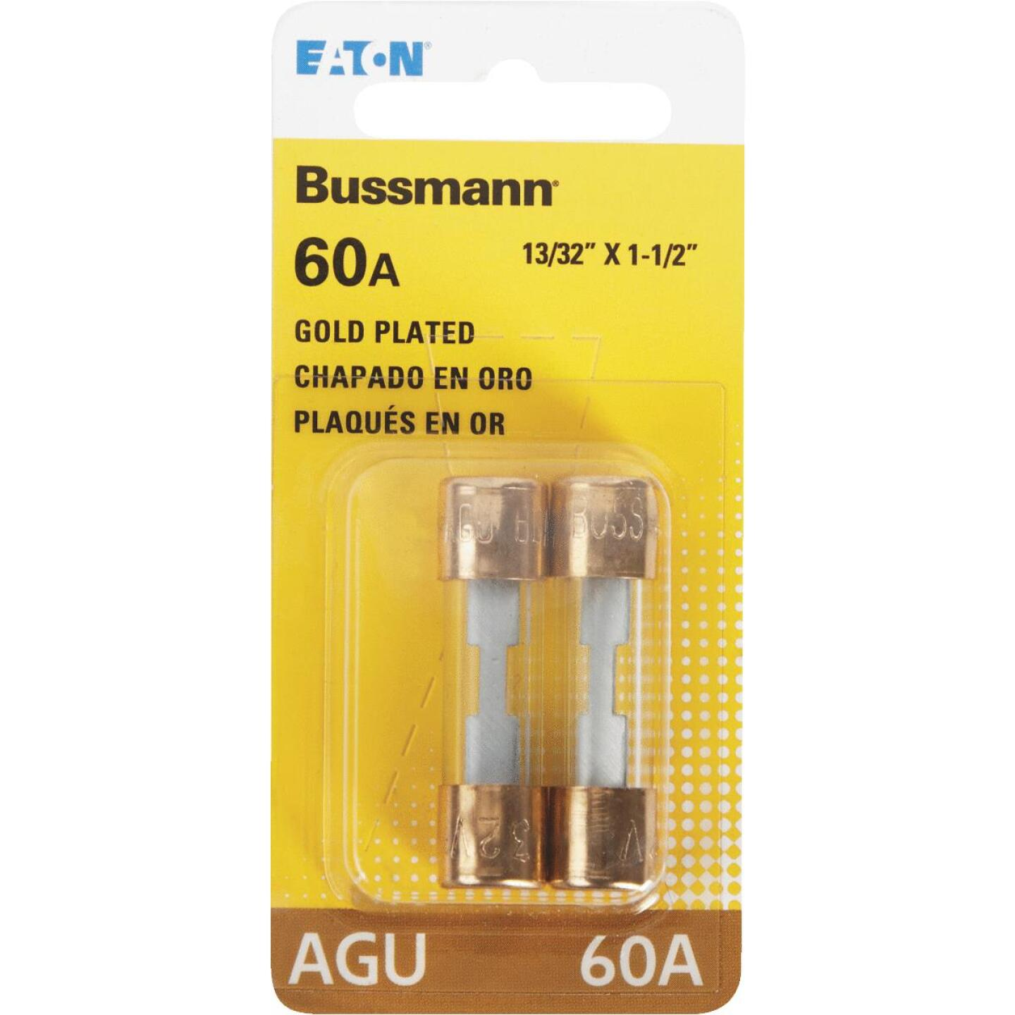 Bussmann 60-Amp AGU Glass Tube Automotive Fuse with Gold-Plated End Caps (2-Pack) Image 3