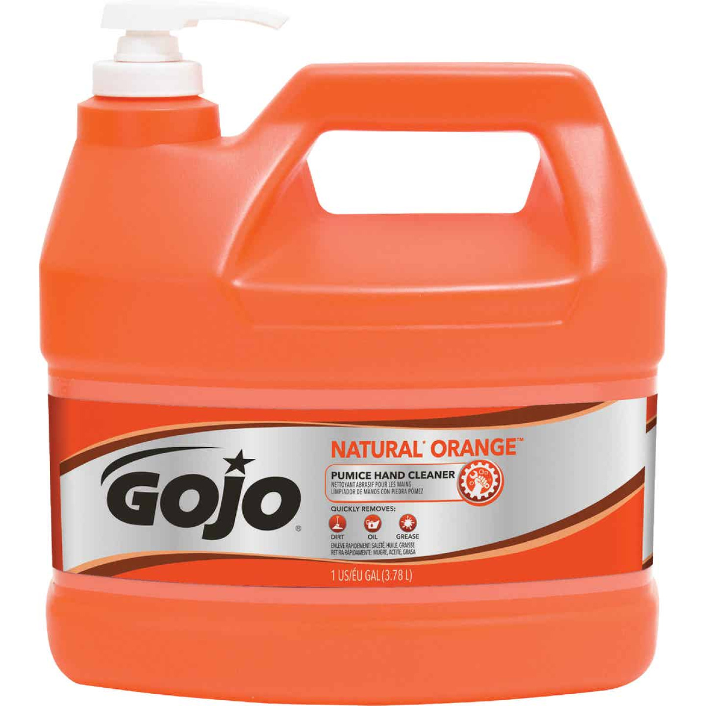 GOJO Natural Orange 1 Gal. Pump Pumice Hand Cleaner Image 1