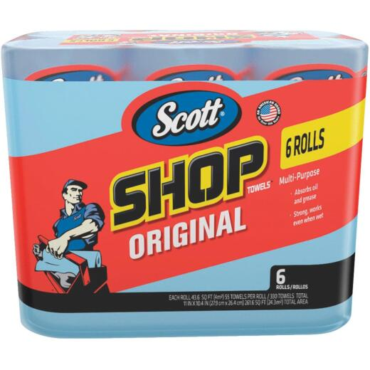 Scott 11 In. W x 10.4 In. L Disposable Original Shop Towel (6-Roll/330-Sheets)