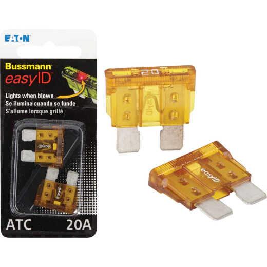 Bussmann 20-Amp 32-Volt ATC Blade easyID Automotive Fuse (2-Pack)