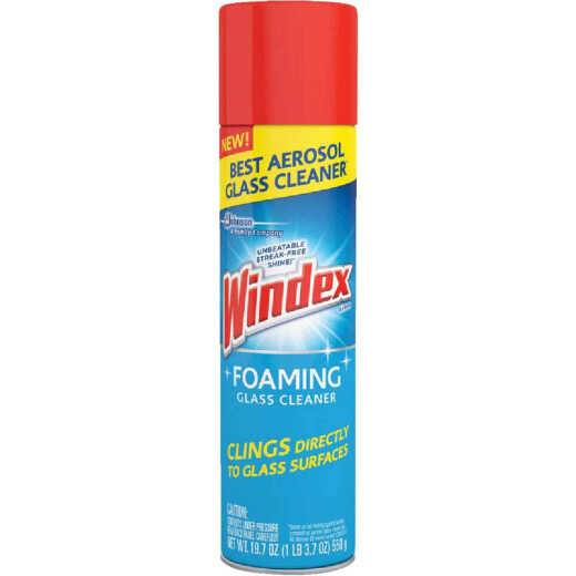 Windex 19 Oz. Power Foam Glass Cleaner