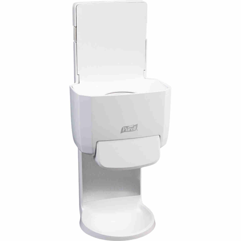 Purell ES4 Push-Style White 1200mL Hand Sanitizer Dispenser Image 1
