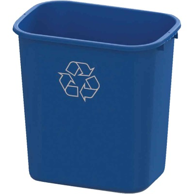 Impact 28 Qt. Blue Plastic Recycle Wastebasket