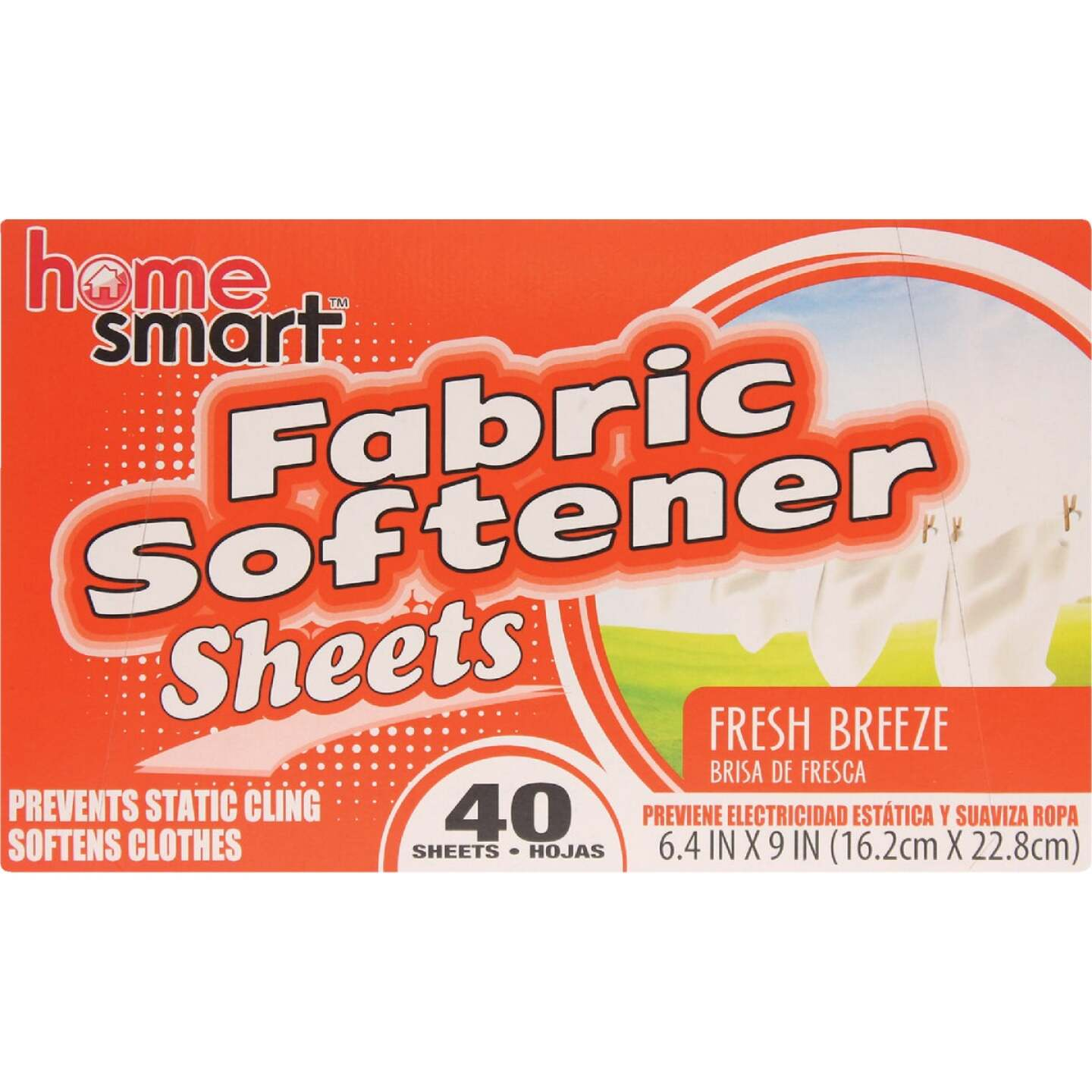 Home Smart Fresh Breeze 40 Loads Dryer Sheet Image 1