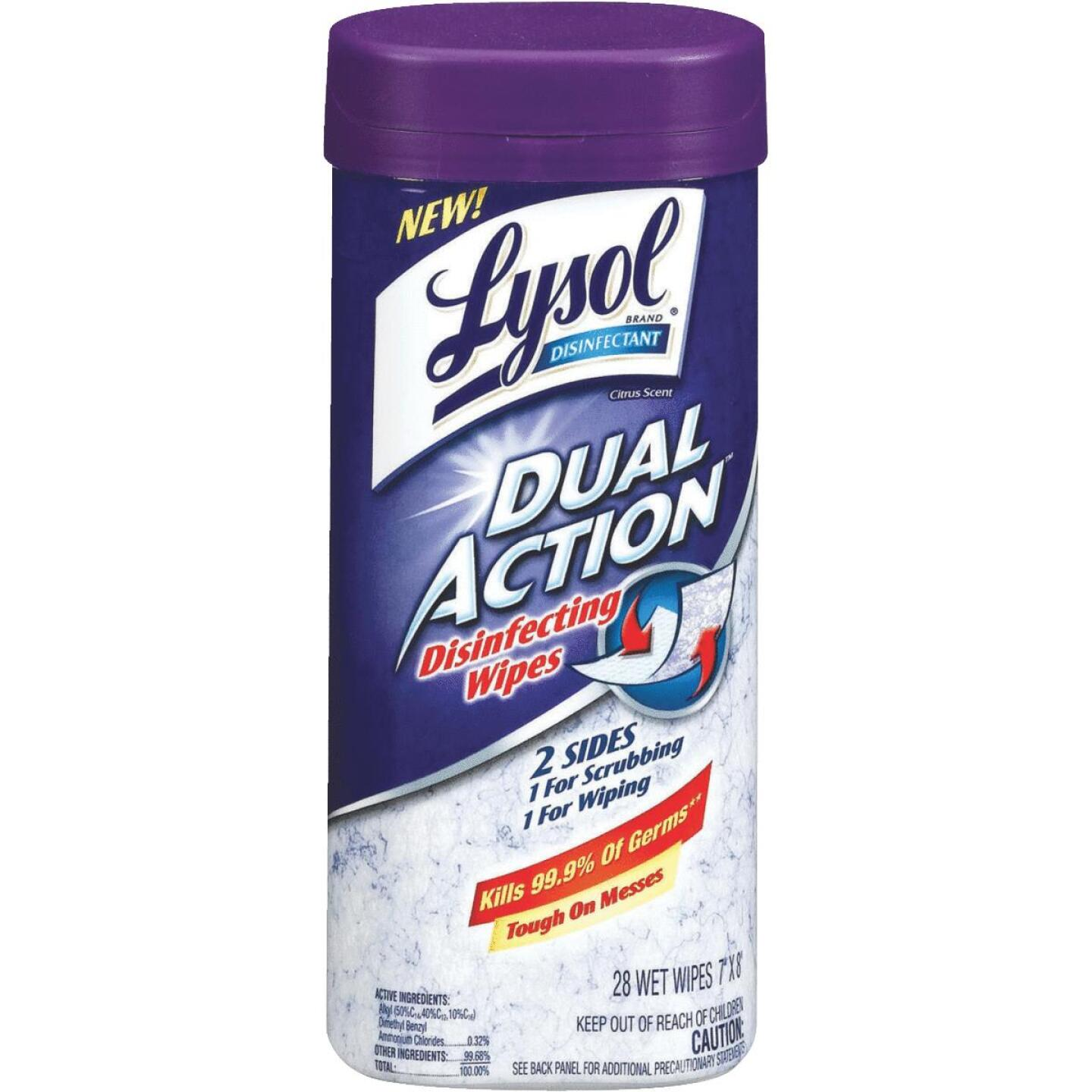 Lysol Dual Action Disinfecting Wipes (28 Count) Image 1