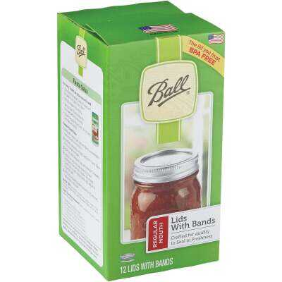 Ball Regular Mouth Canning Lid with Bands (12-Count)