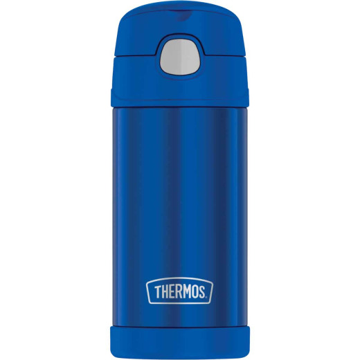 Thermos Funtainer 12 Oz. Blue Stainless Steel Water Bottle With Straw