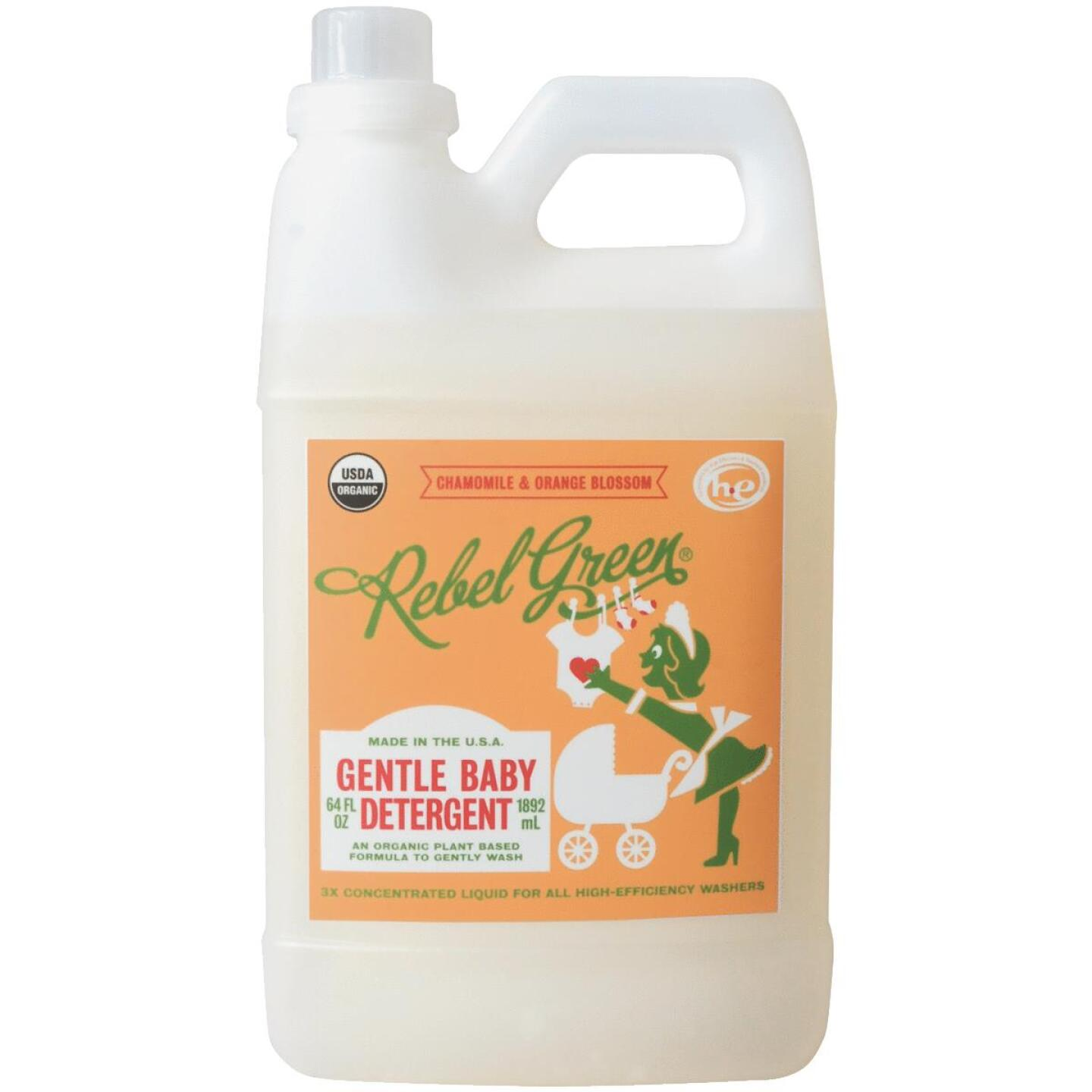Rebel Green 64 Oz. Chamomile & Orange Blossom Baby Detergent Image 1