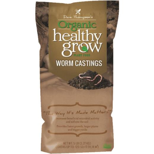 Healthy Grow 4 Lb. Organic Worm Castings Manure
