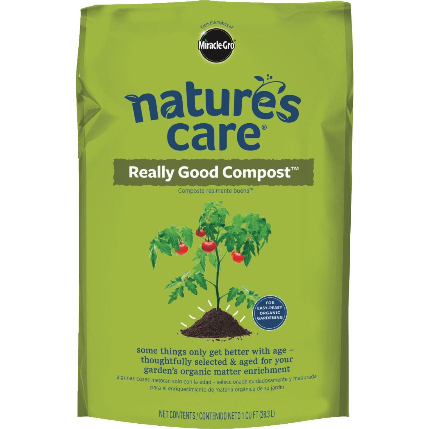 Miracle-Gro Nature's Care 1 Cu. Ft. Organic Lawn & Garden Compost Image 1