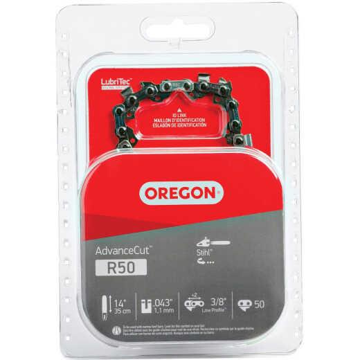Oregon AdvanceCut LubriTec R50 14 In. 3/8 In. Low Profile 50 Link Chainsaw Chain