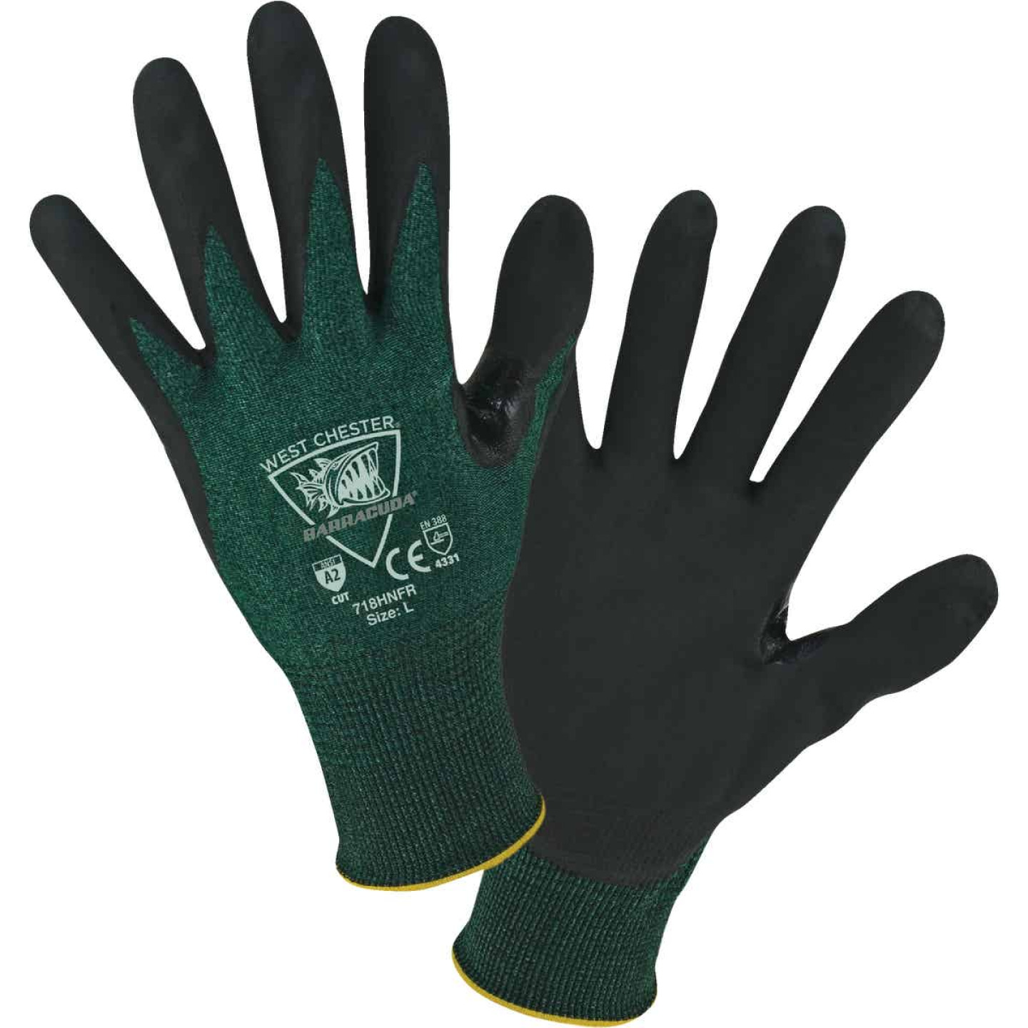 West Chester Protective Gear Barracuda Men's Medium 18-Gauge Nitrile Coated Glove Image 1