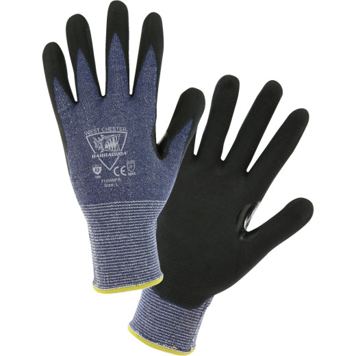 West Chester Protective Gear Barracuda Men's Medium 15-Gauge Nitrile Coated Glove