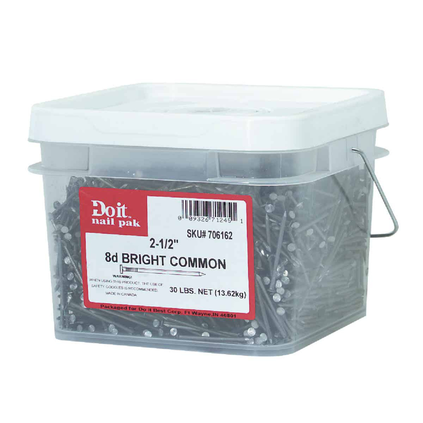 Grip-Rite 8d x 2-1/2 In. 10-1/4 ga Bright Common Nails (3030 Ct., 30 Lb.) Image 2