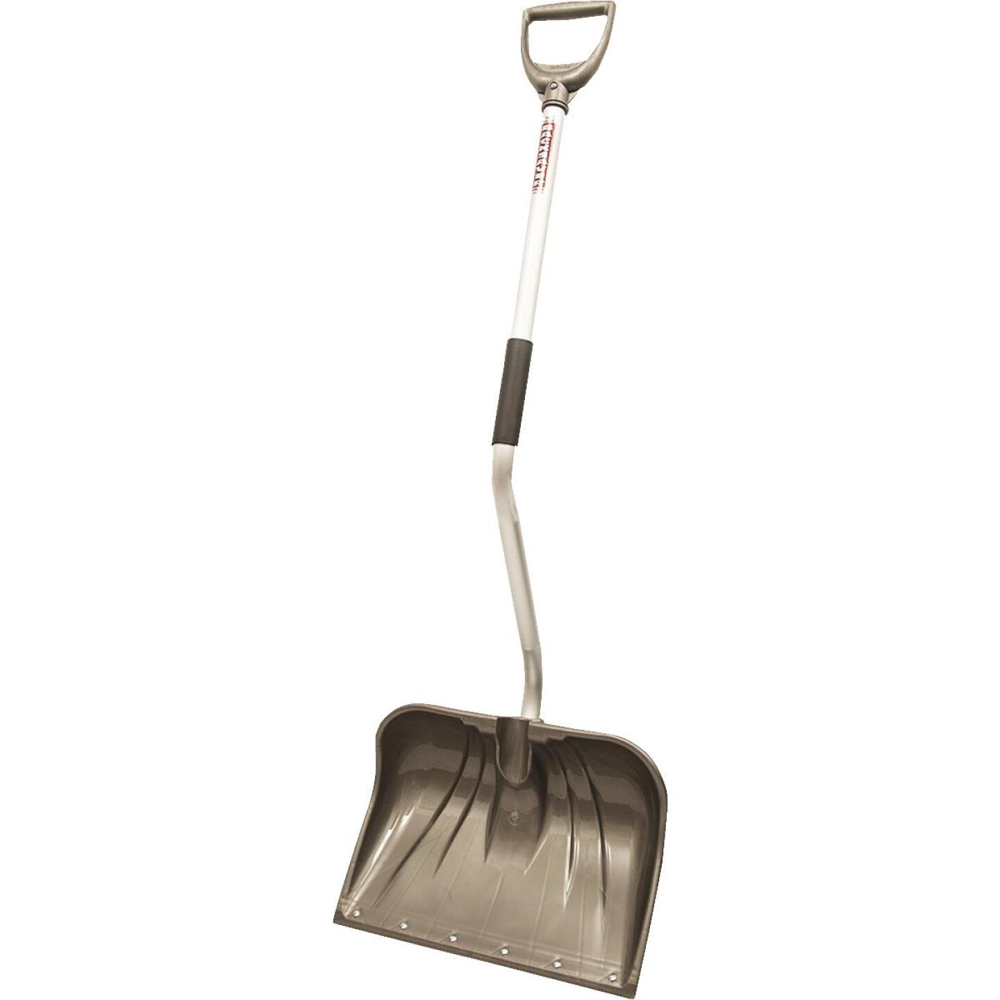 Rugg Back-Saver Lite-Wate 18 In. Poly Snow Shovel with 42.5 In. Aluminum Handle Image 3