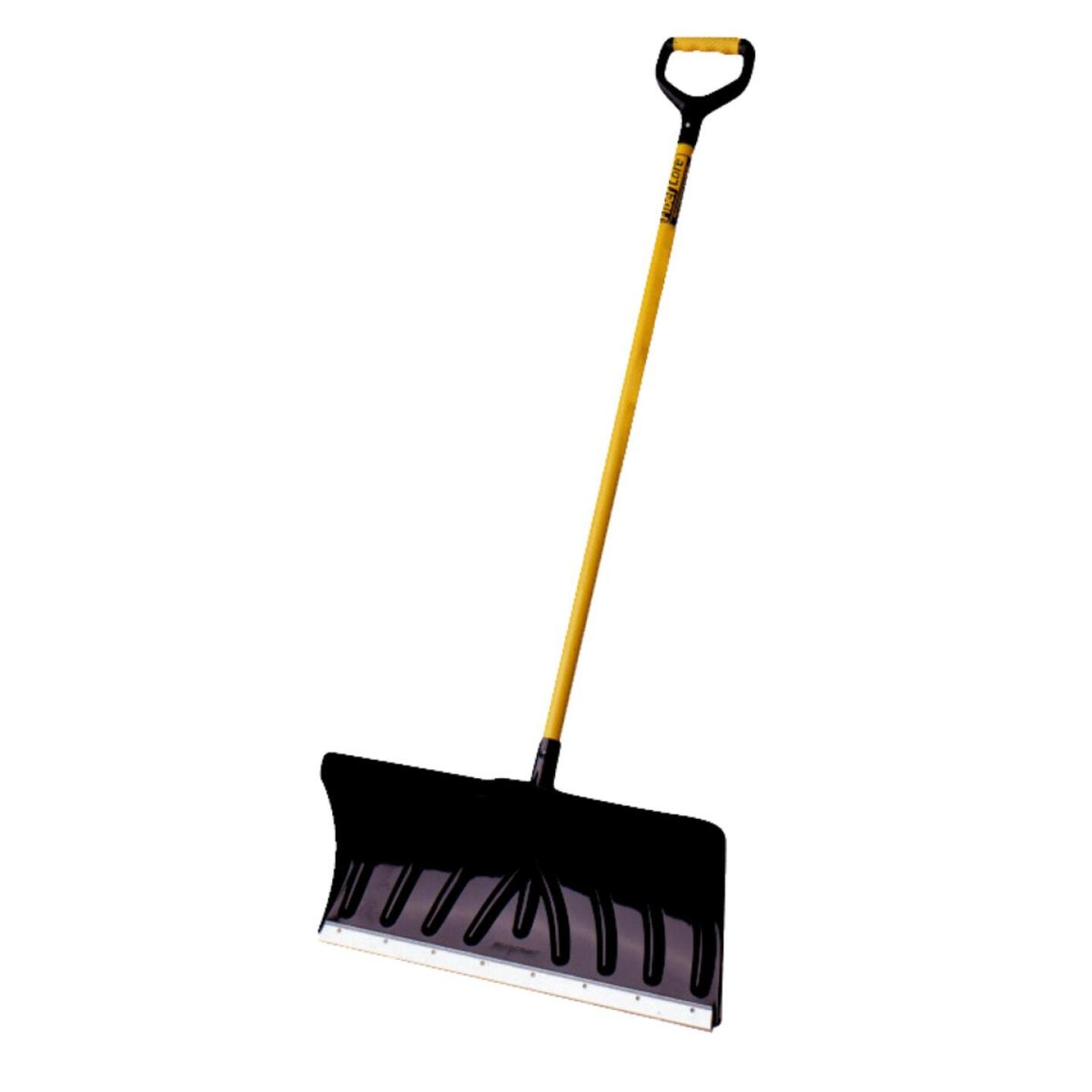 Suncast 24 In. Poly Snow Pusher with 45 In. Steel Handle Image 1