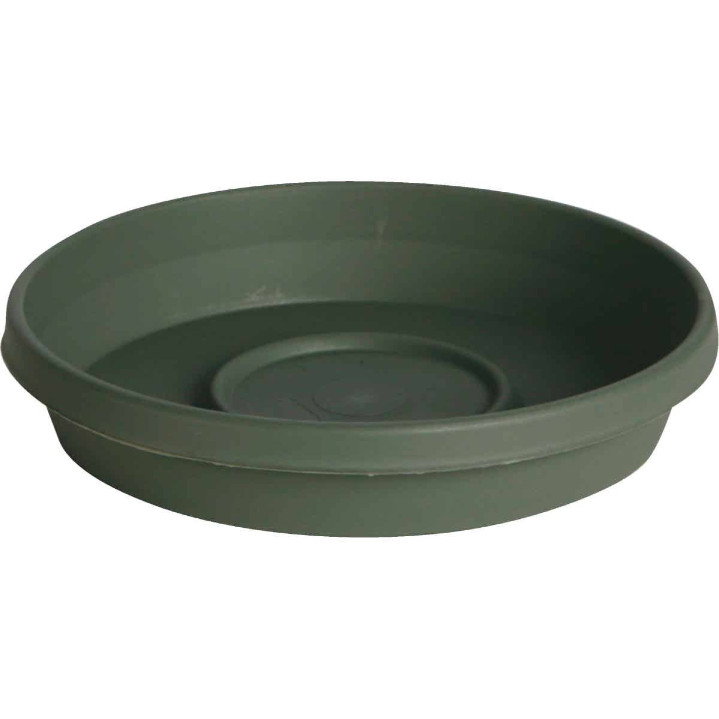 Bloem Terra Living Green 16 In. Plastic Flower Pot Saucer Image 1