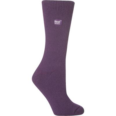 Heat Holders Women's 5 to 9 Purple Thermal Sock