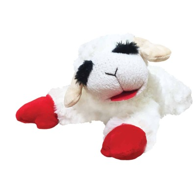 Multipet 10.5 In. Plush Lamb Chop Dog Toy