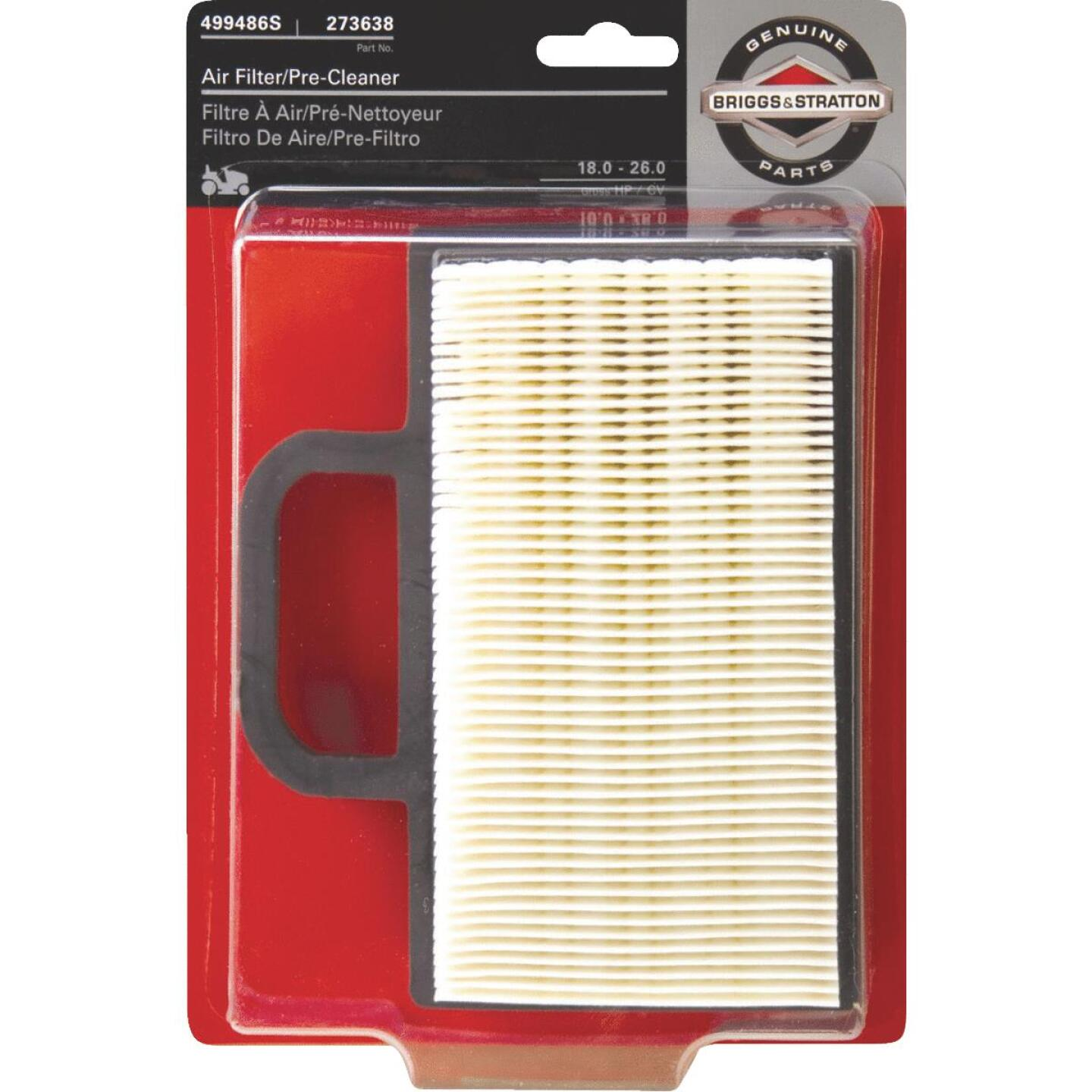 Briggs & Stratton 12 To 26 HP Paper Engine Air Filter with Pre-Cleaner Image 1