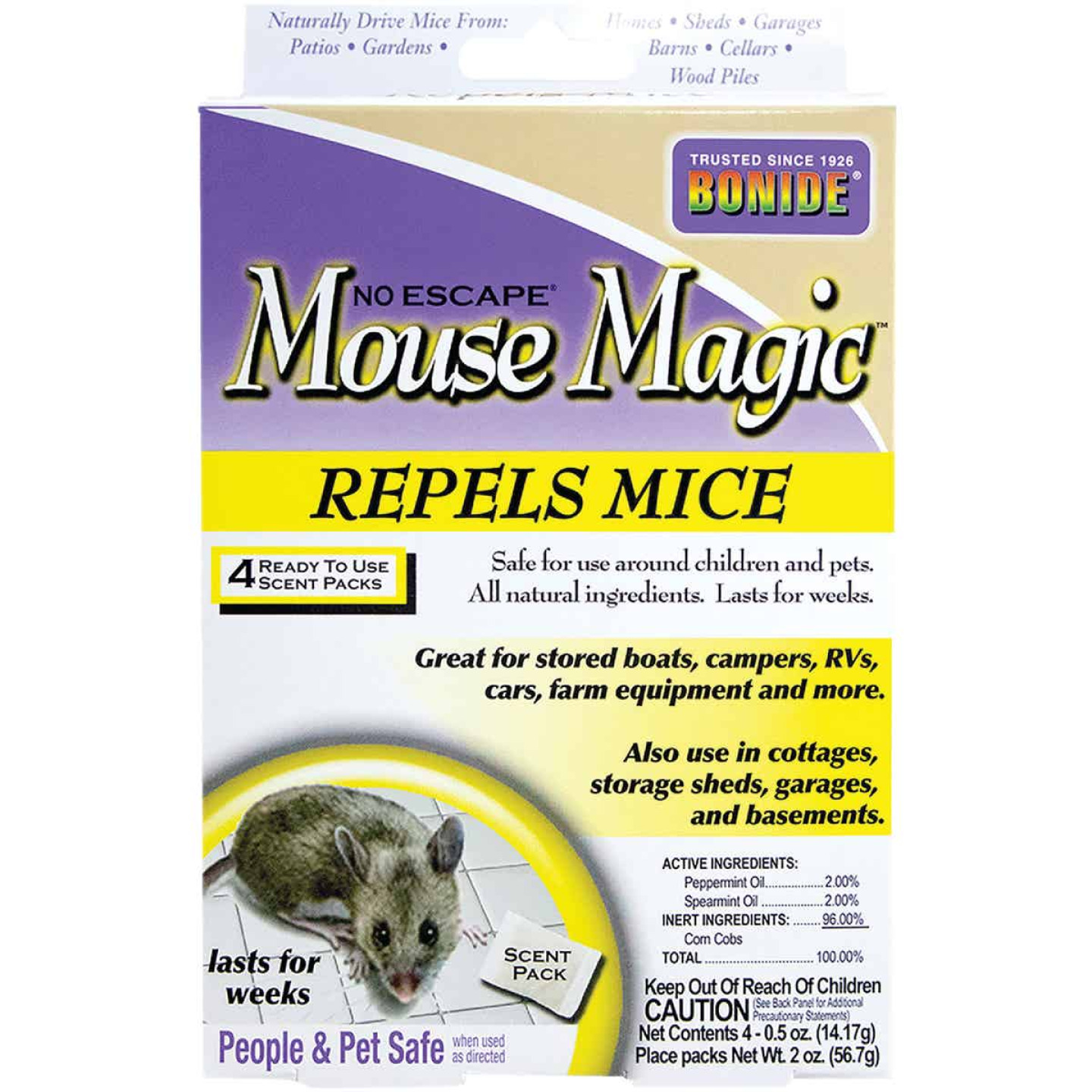 Bonide Mouse Magic 2 Oz. Granular Mouse Repellent (4-Pack) Image 1