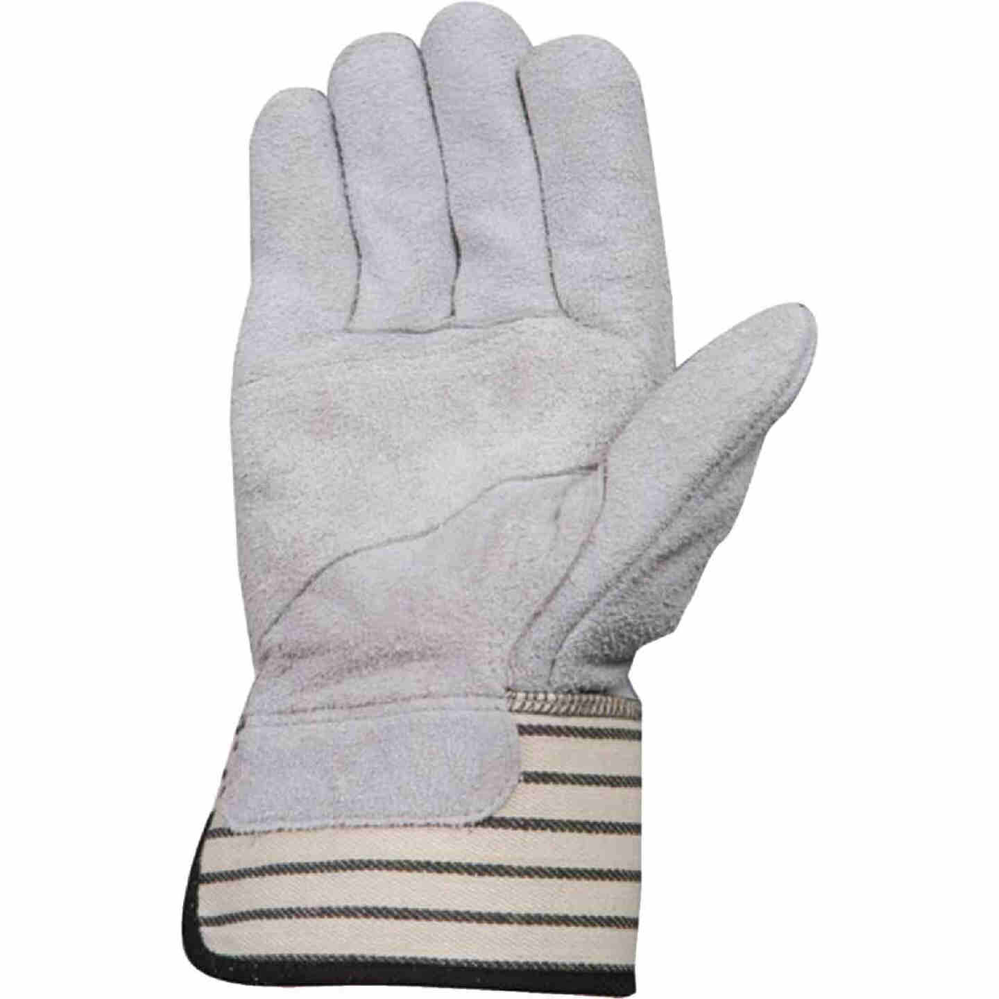 Wells Lamont Men's Large Suede Split Cowhide Leather Work Glove Image 2