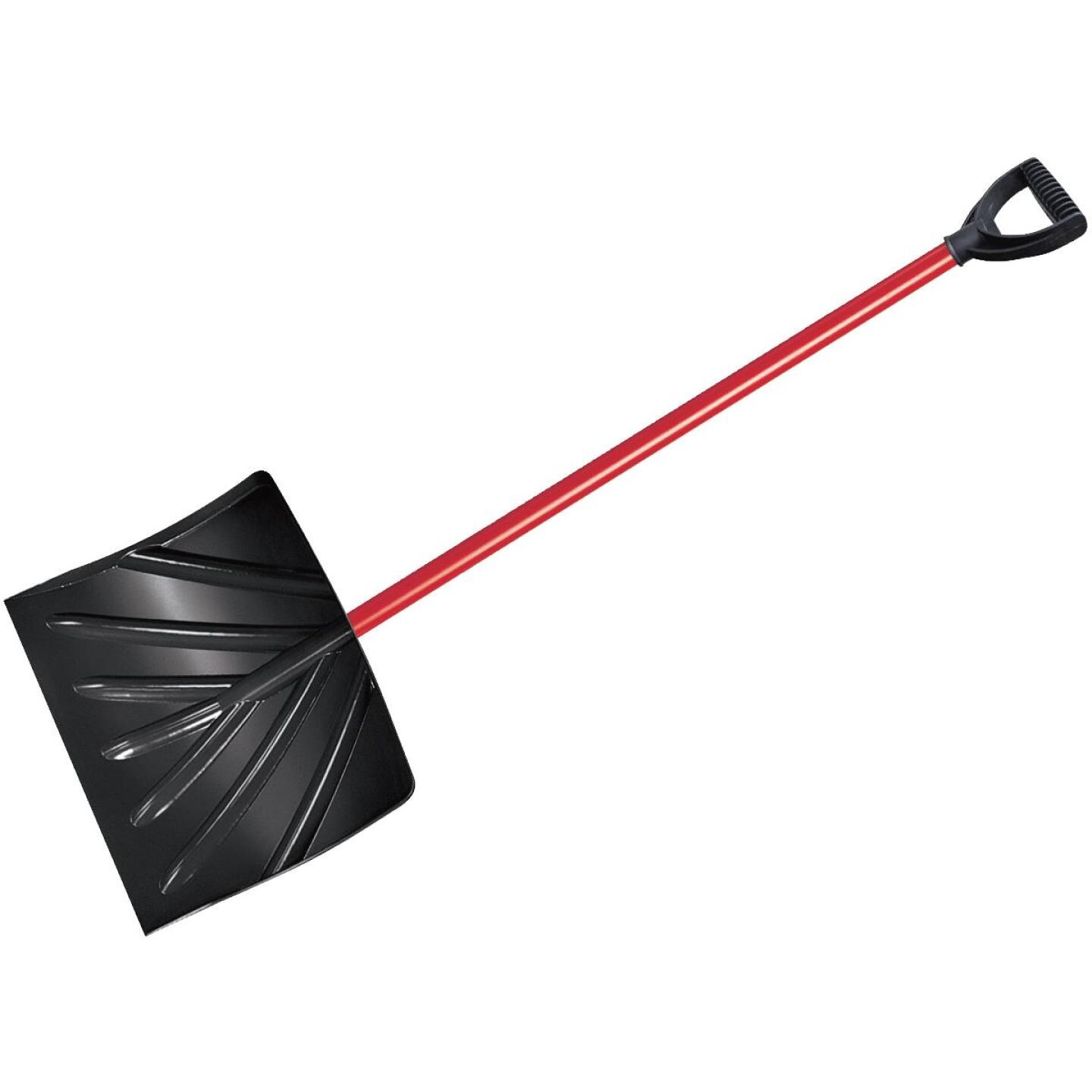 True Temper 18 In. Poly Snow Shovel with 37 In. Steel Handle Image 1