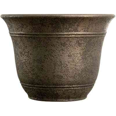 Listo Sierra 9.63 In. H. x 13 In. Dia. Nordic Bronze Poly Flower Pot