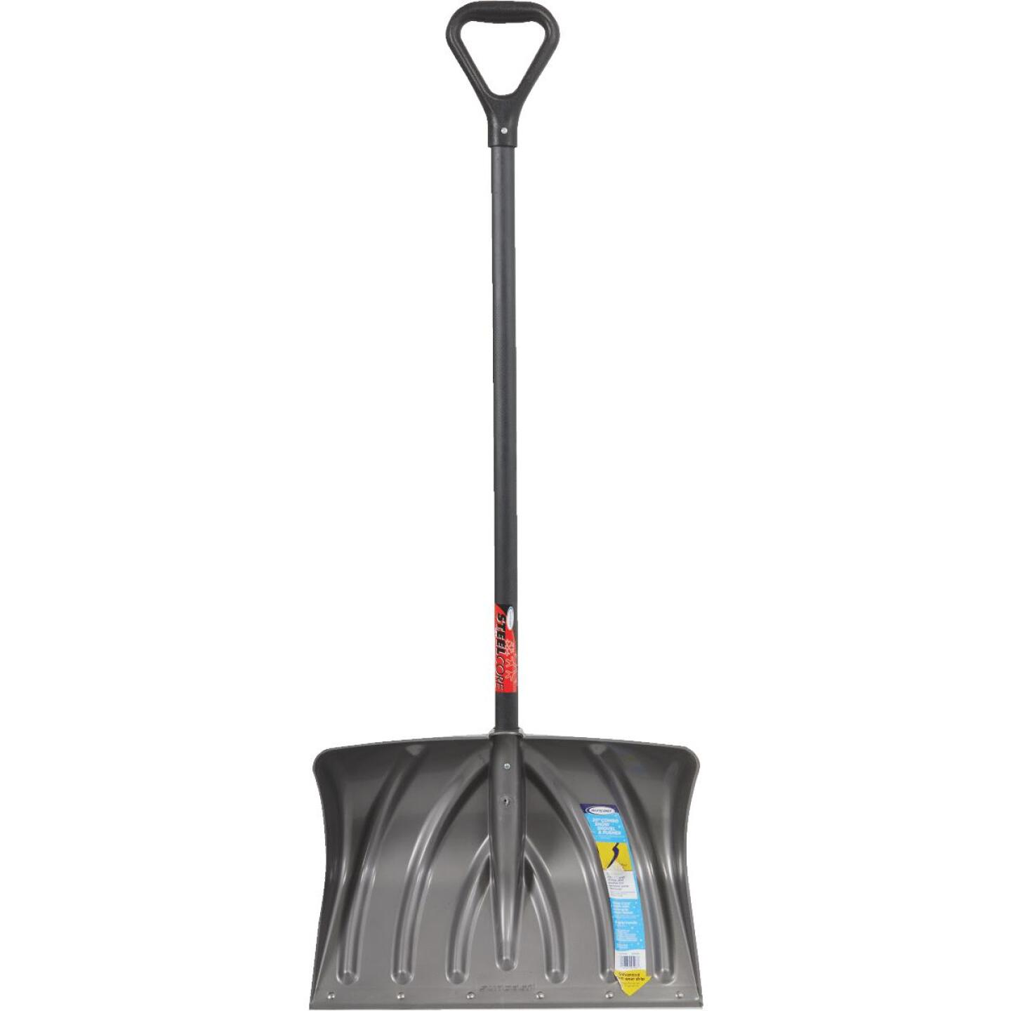 Suncast 20 In. Graphite Snow Shovel & Pusher with 38 In. Steel Handle Image 2