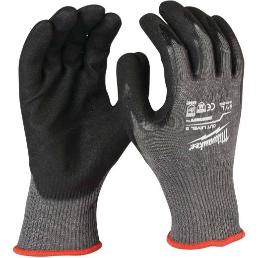 Milwaukee Men's Large Nitrile Coated Cut Level 5 Work Glove
