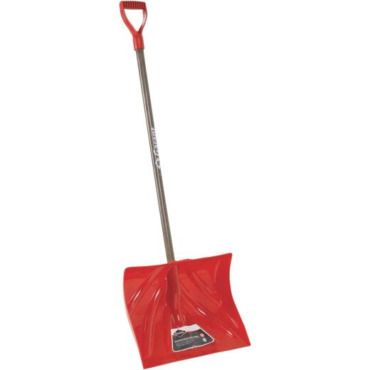 Garant Nordic 18 In. Poly Snow Shovel & Pusher with 42.25 In. Wood Handle