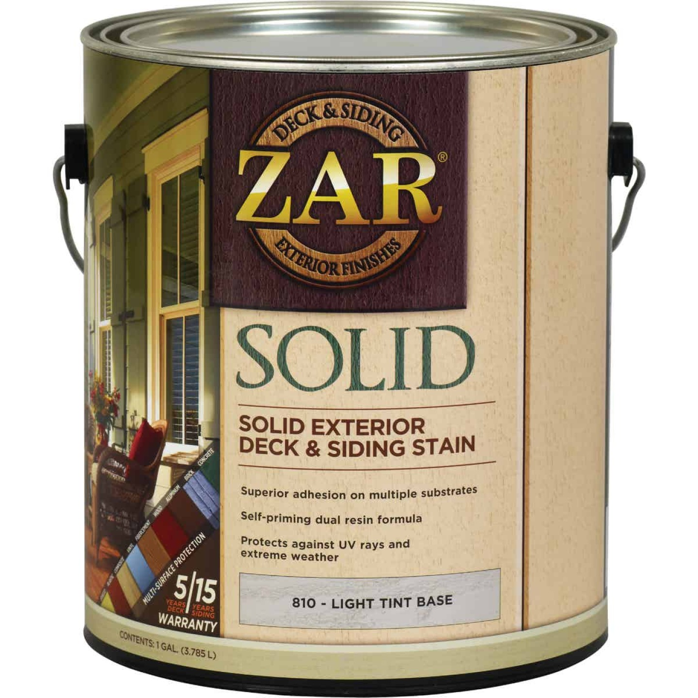 ZAR Solid Deck & Siding Stain, Light Tint Base, 1 Gal. Image 1
