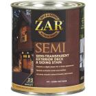 ZAR Semi-Transparent Exterior Deck & Siding Stain, Dark Tint Base, 1 Qt. Image 1