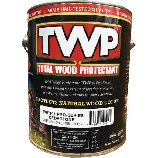 TWP100 Pro Series Semi-Transparent Wood Protectant Deck Stain, Cedartone, 1 Gal.