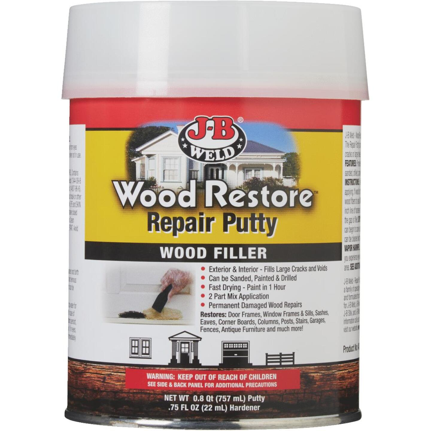 J-B Weld Wood Restore 32 Oz. 2-Part Repair Wood Putty Image 2