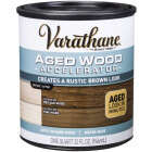 Varathane Aged Wood Accelerator Stain, Brown, 1 Qt. Image 1