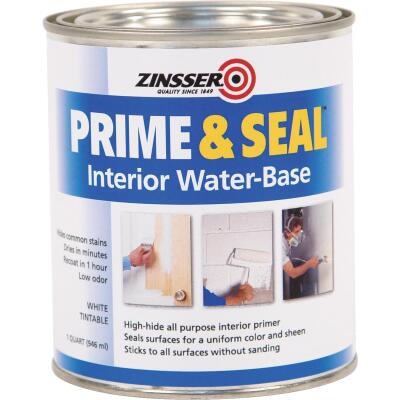 Zinsser Interior Prime & Seal Water-Based Primer, White, 1 Qt.