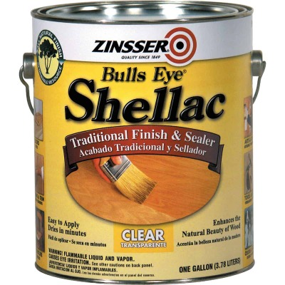 Zinsser Bulls Eye Clear Shellac, Gallon